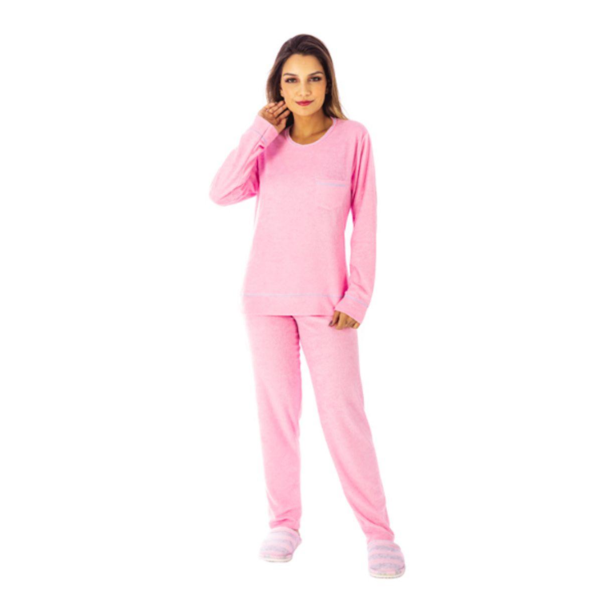 Pijama de inverno feminino plush BOLSINHO Victory