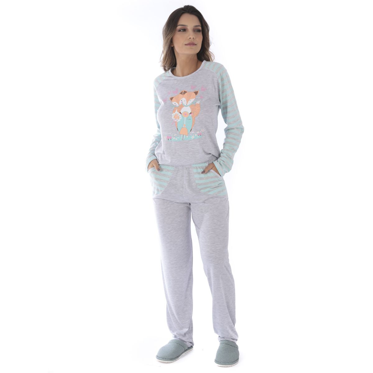 Pijama de inverno feminino PV Victory