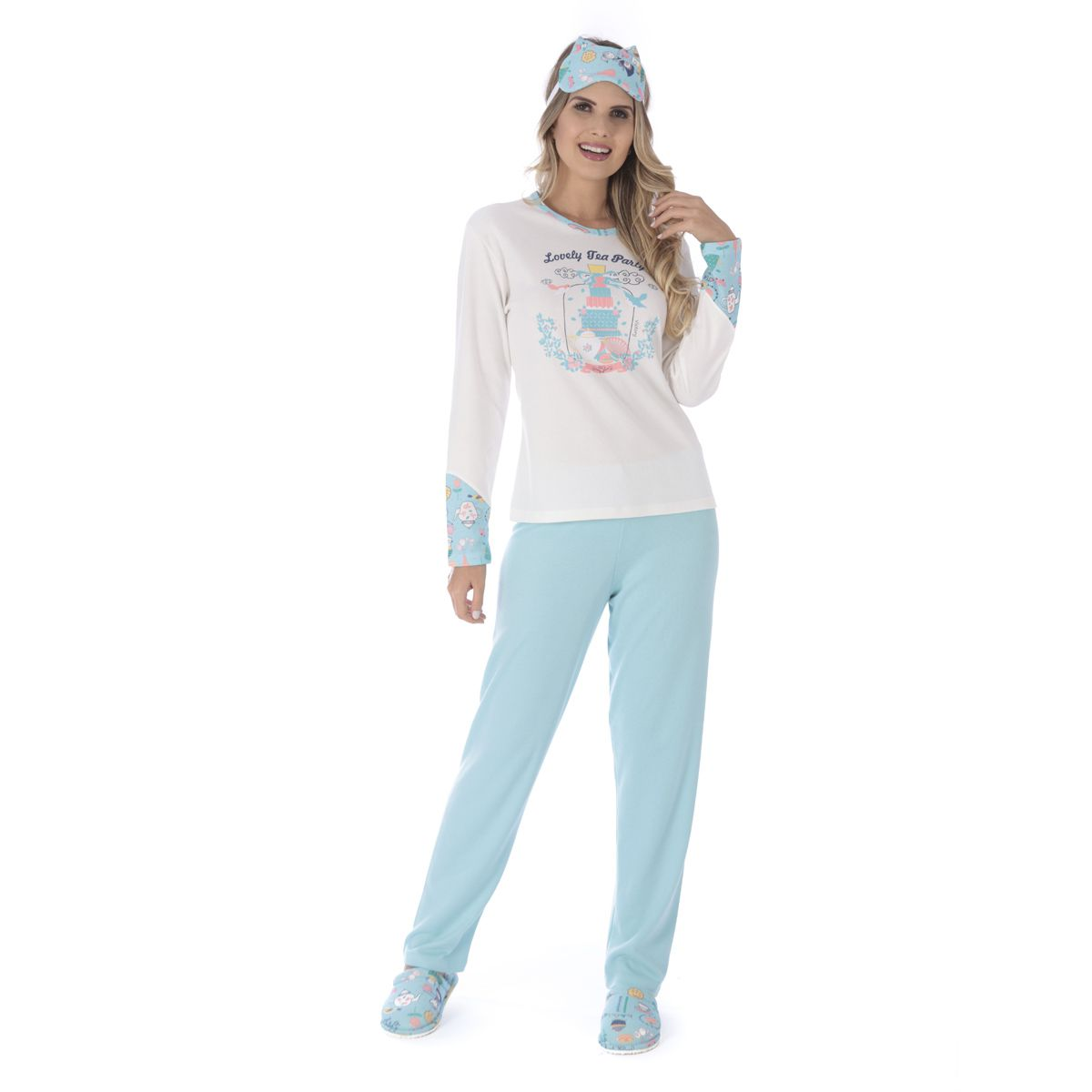 Pijama de inverno feminino TRADICIONAL Victory