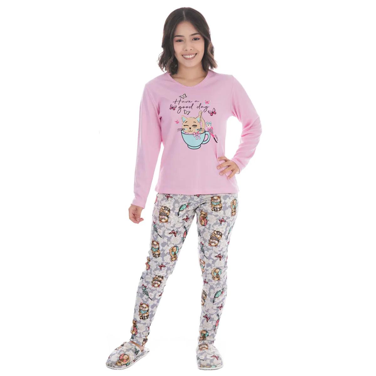 Pijama de inverno juvenil para menina SWEET Victory