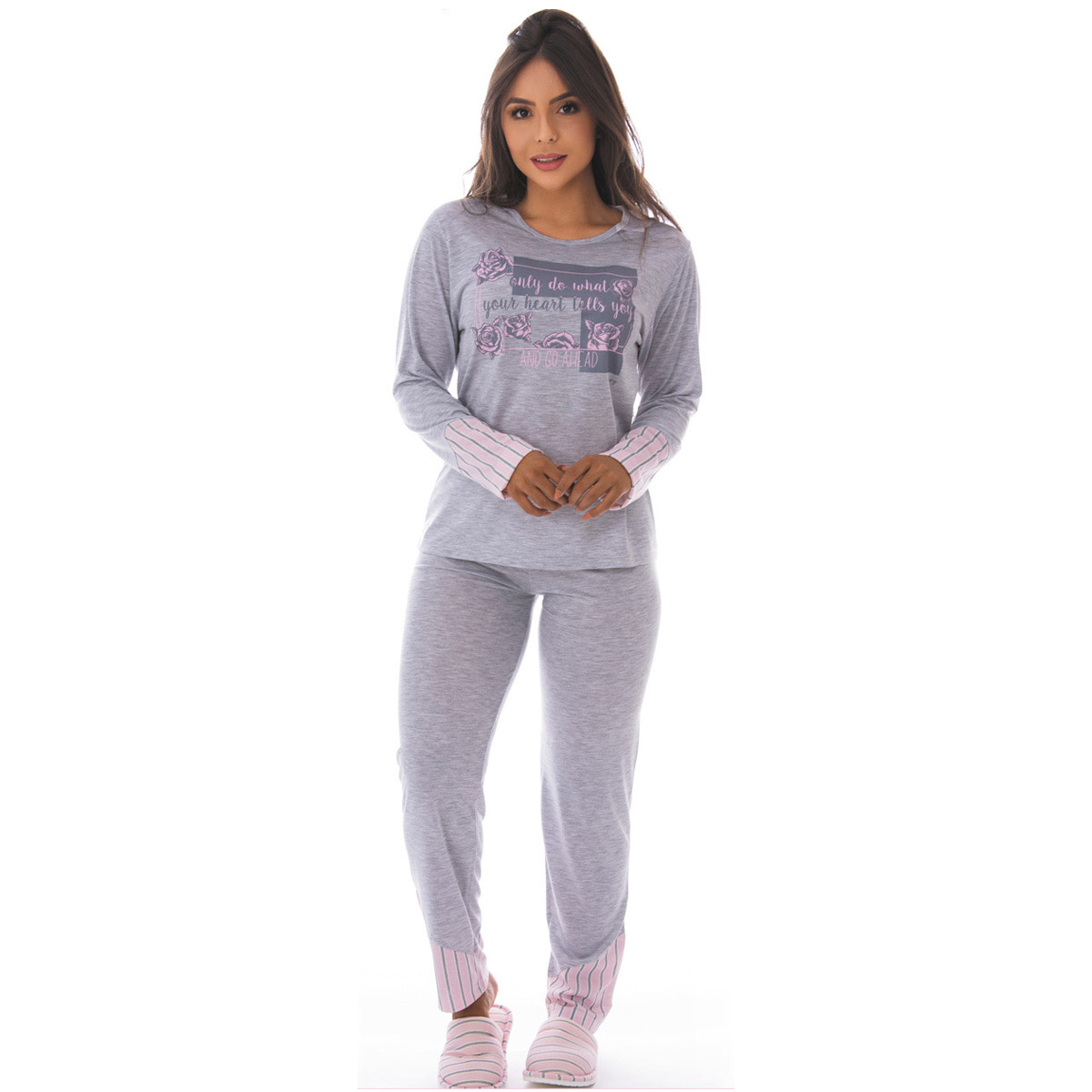 Pijama feminino de inverno COMPOSÊ Victory
