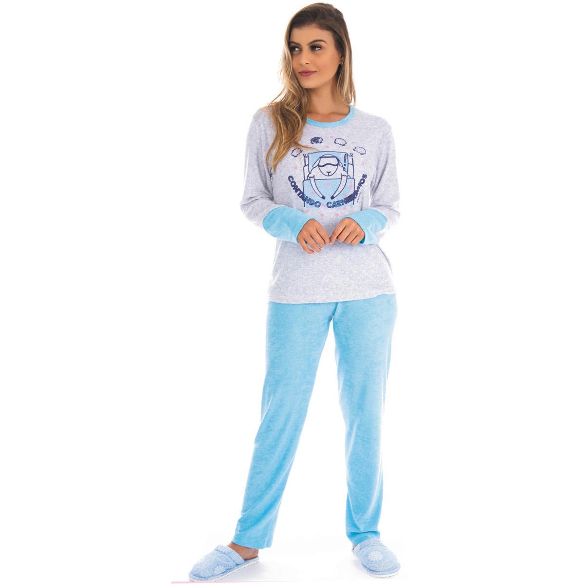 Pijama feminino de inverno plush SOPHIA Victory