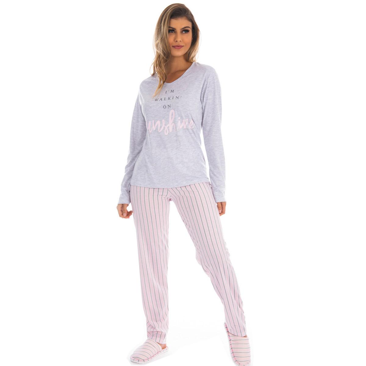 Pijama feminino de inverno PV especial Victory
