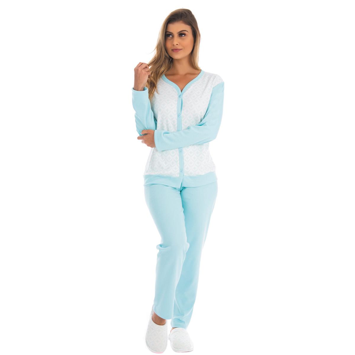 Pijama feminino para o inverno ABERTO Victory
