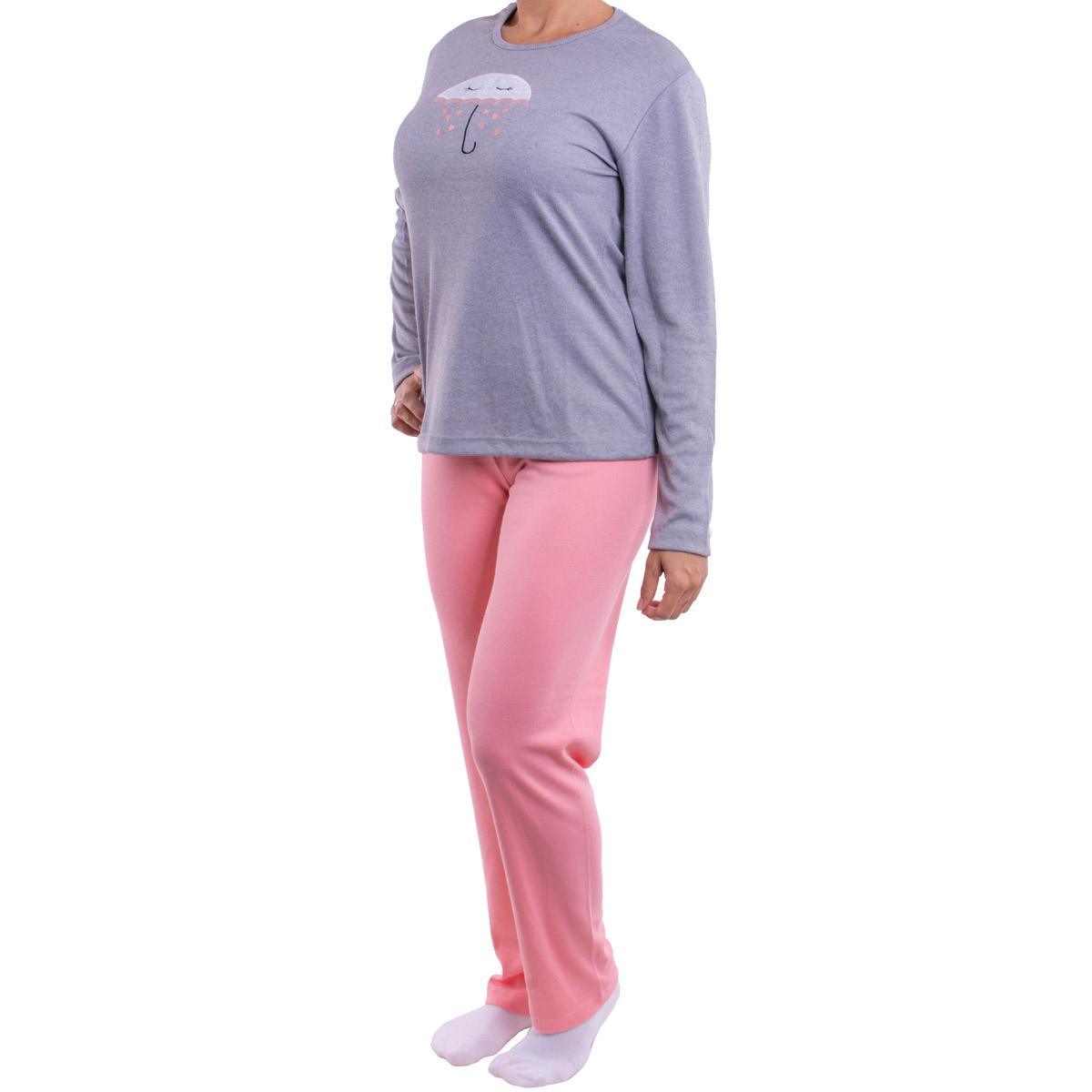 Pijama feminino para o inverno BORDADO Victory