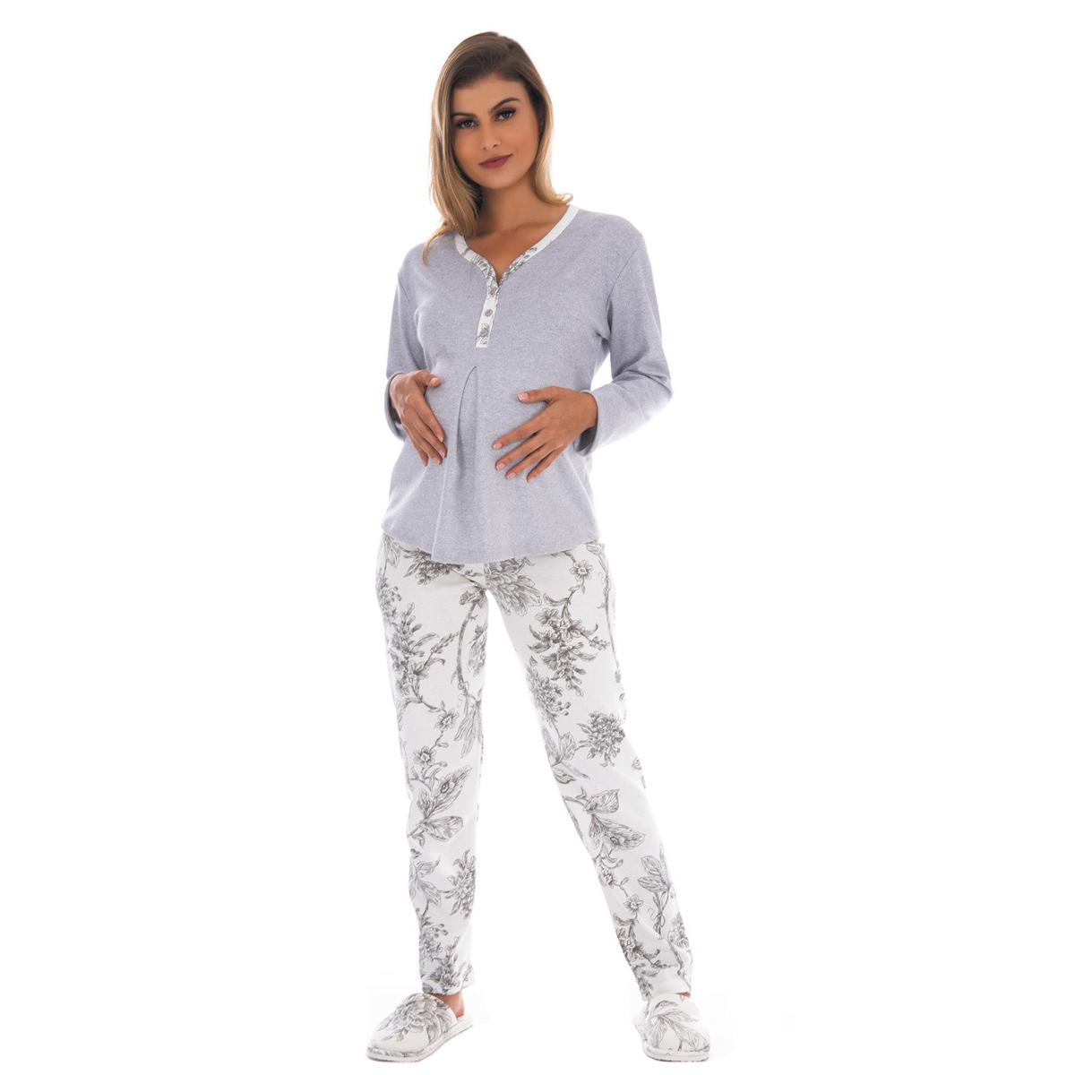 Pijama feminino para o inverno gestante ESPECIAL Victory