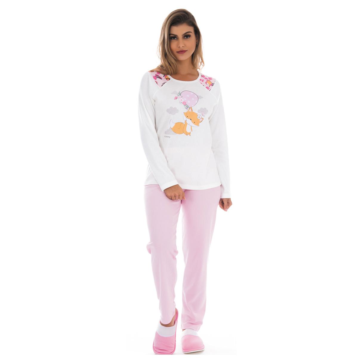Pijama feminino para o inverno TRADICIONAL Victory