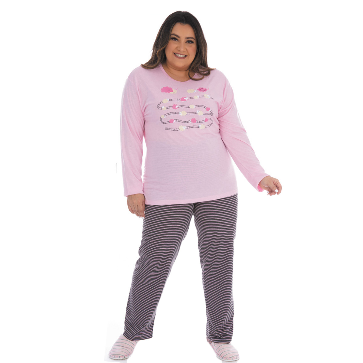 Pijama feminino plus size para o inverno CONFORT Victory