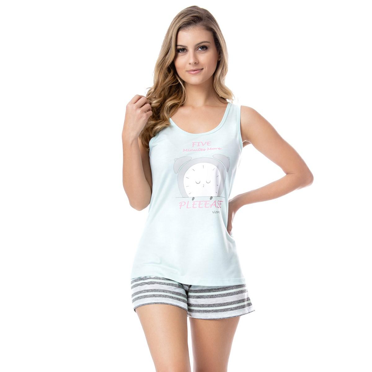 Pijama feminino regata e short doll para o verão Victory