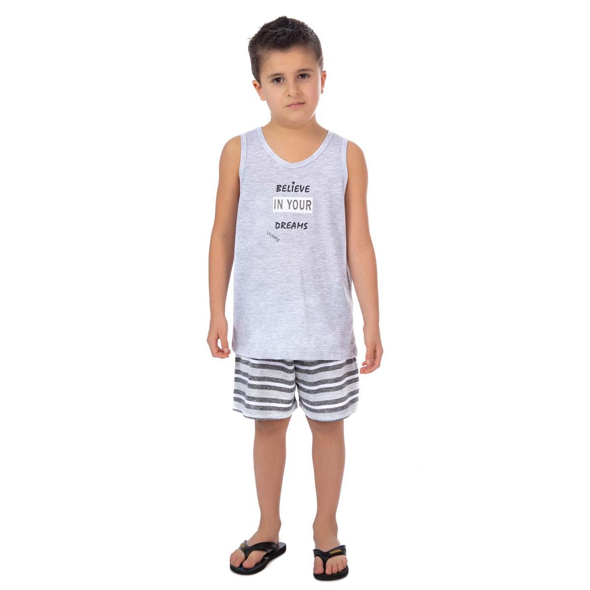 Pijama infantil de verão para menino coleção família Victory