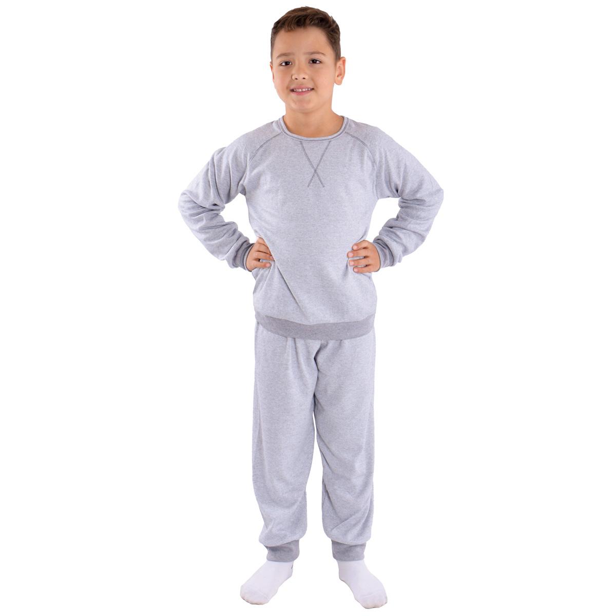 Pijama infantil para menino de inverno peluciado Victory
