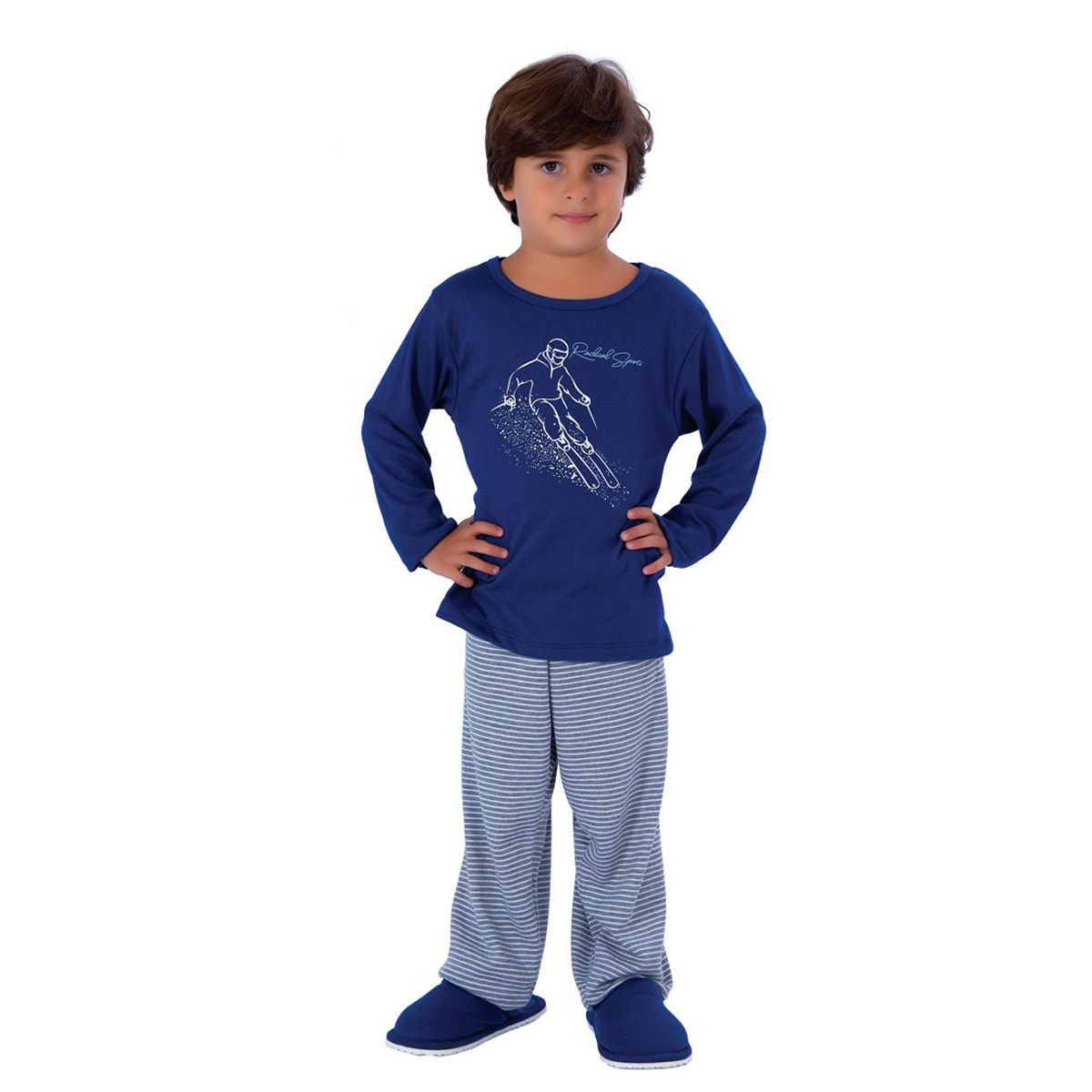 Pijama infantil para meninos de inverno canelado Victory