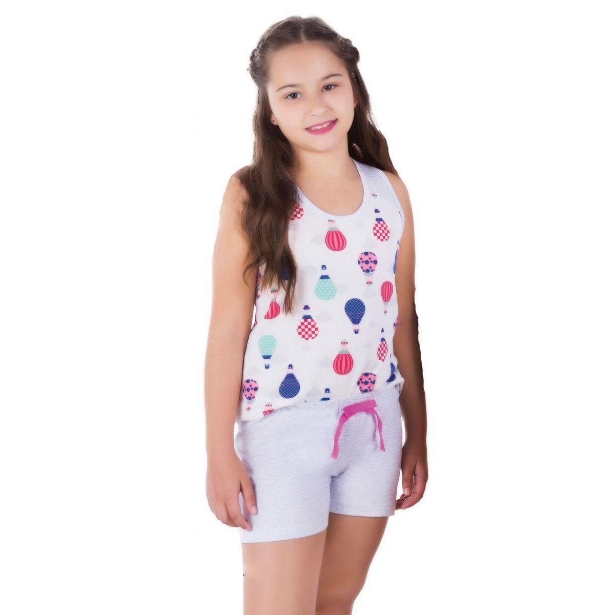 Pijama infantil verão feminino Victory