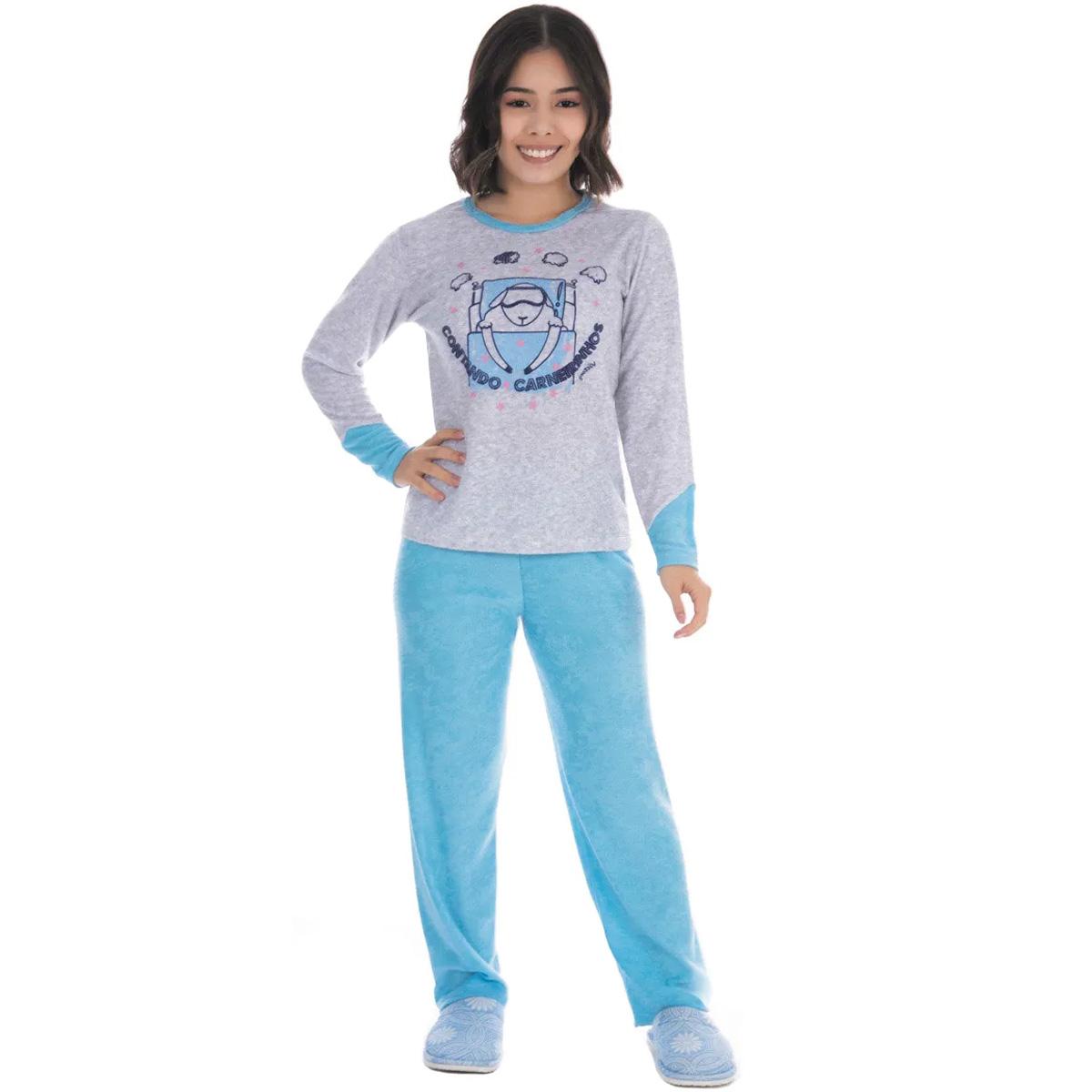 Pijama juvenil de menina de inverno plush SOPHIA Victory