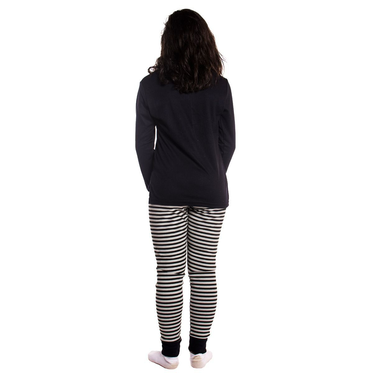 Pijama juvenil feminino de inverno estampado Victory