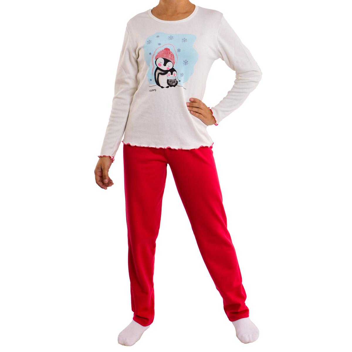 Pijama juvenil para menina de inverno peluciado DENGOSO Victory