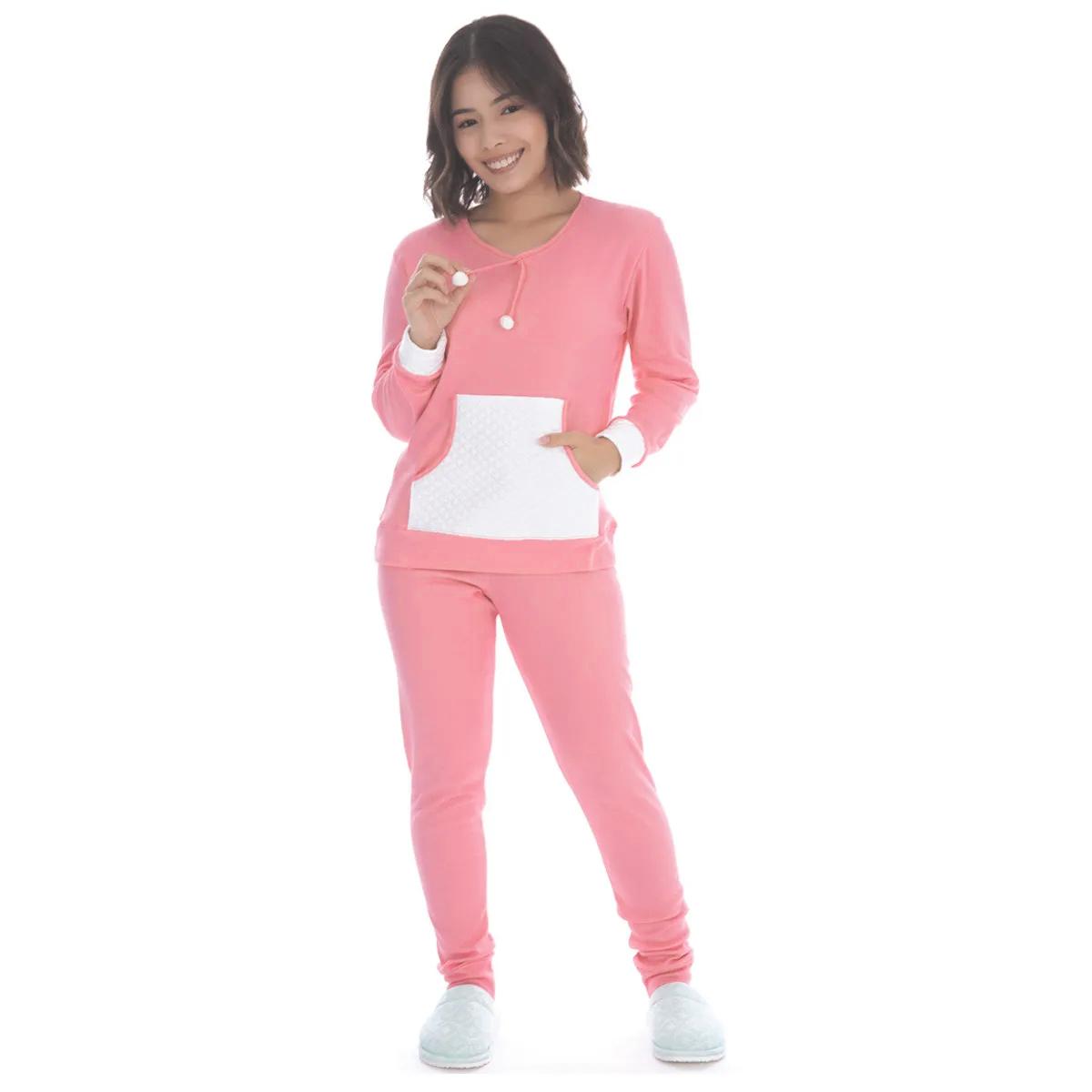 Pijama juvenil para o inverno KANGURU POM-POM Victory