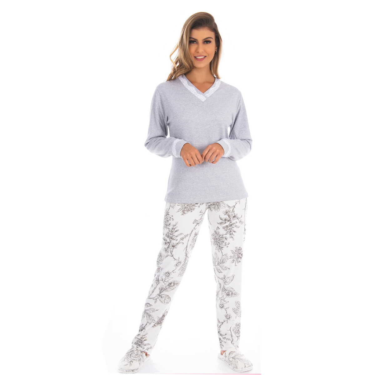 Pijama MADAM feminino para o inverno Victory