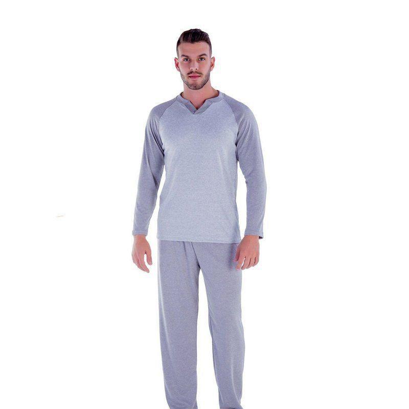 Pijama masculino adulto longo frio inverno Victory