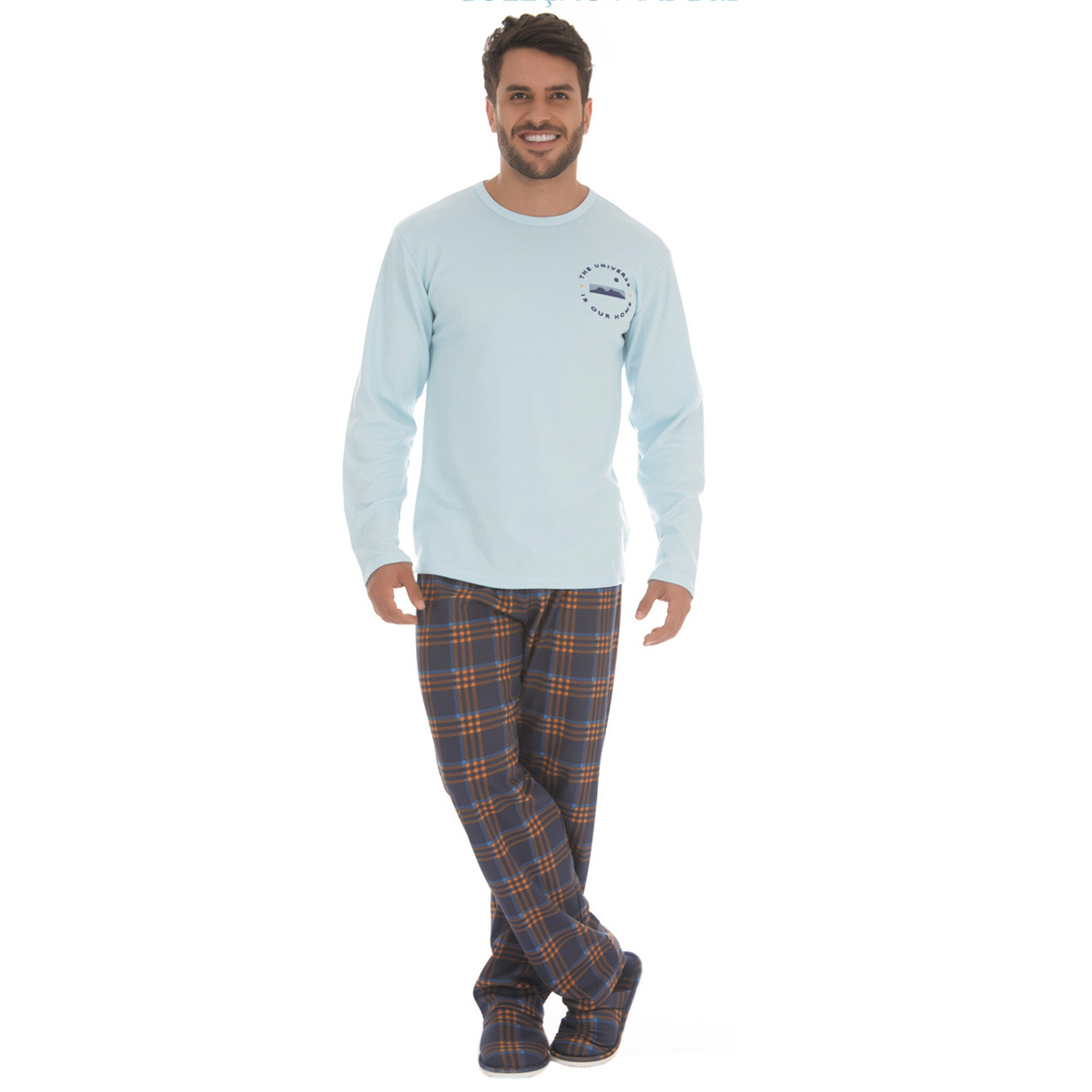 Pijama masculino de inverno TOP Victory