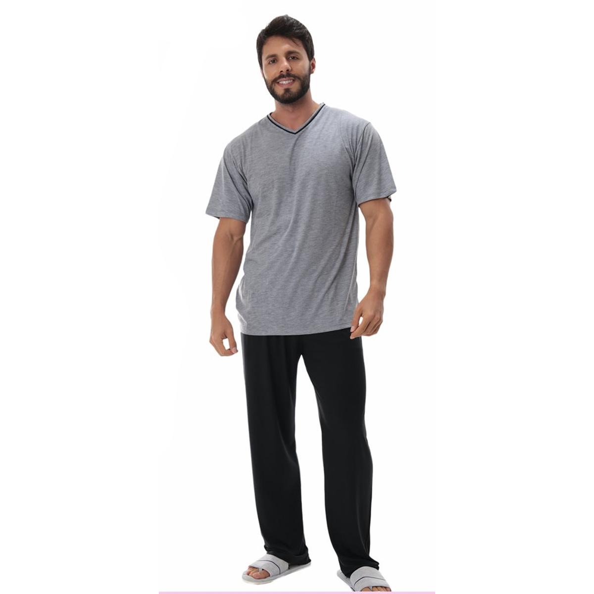 Pijama masculino de verão manga curta e calça Victory