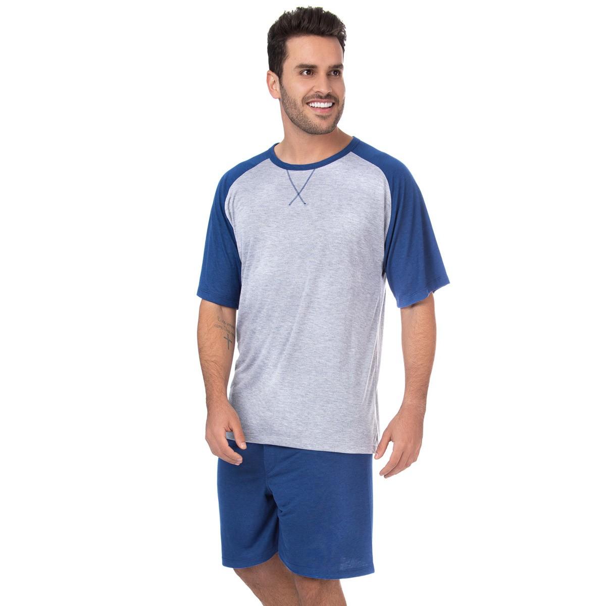 Pijama masculino manga curta para o verão Victory