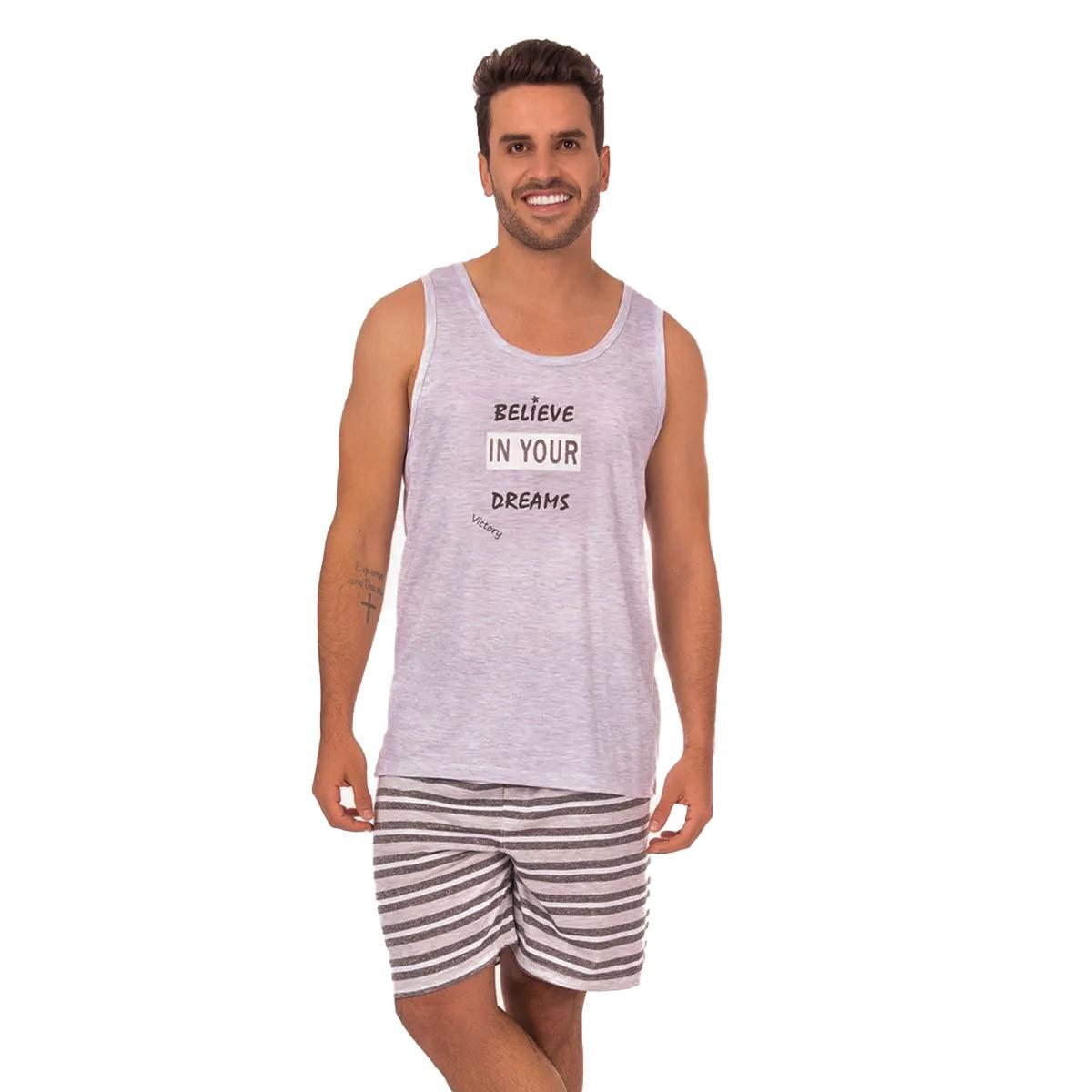 Pijama masculino para o verão coleção família Victory