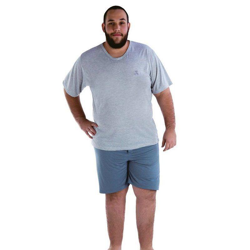 Pijama masculino verão plus size adulto Victory
