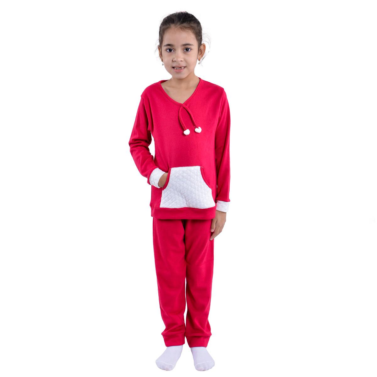 Pijama infantil para menina de inverno KANGURU POM-POM Victory