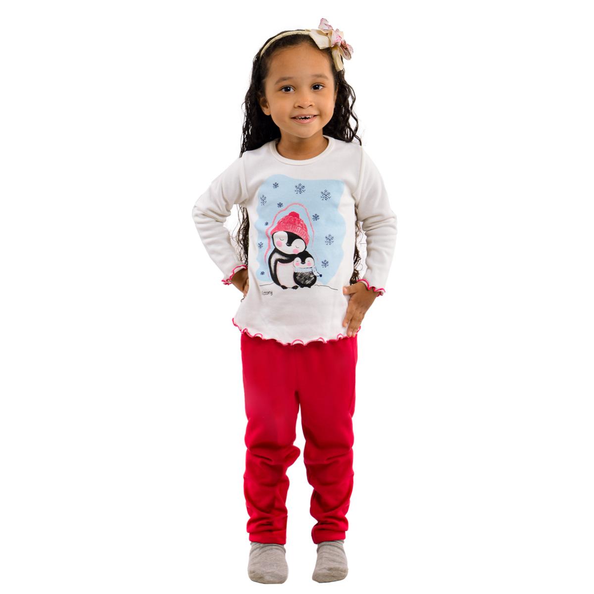 Pijama para menina de inverno peluciado baby Victory