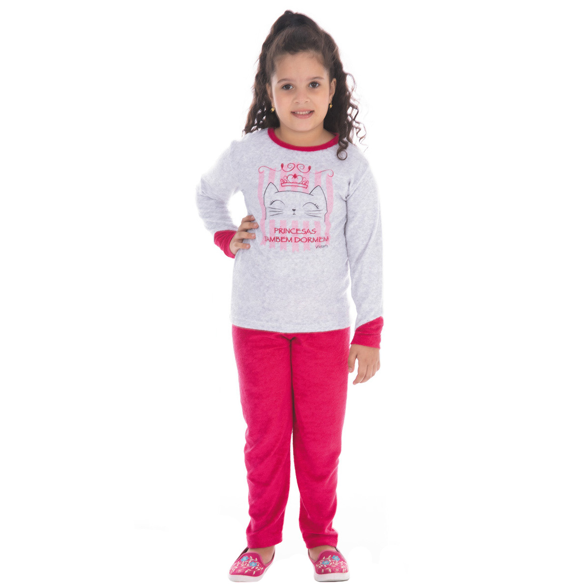 Pijama para menina infantil de inverno plush SOPHIA Victory