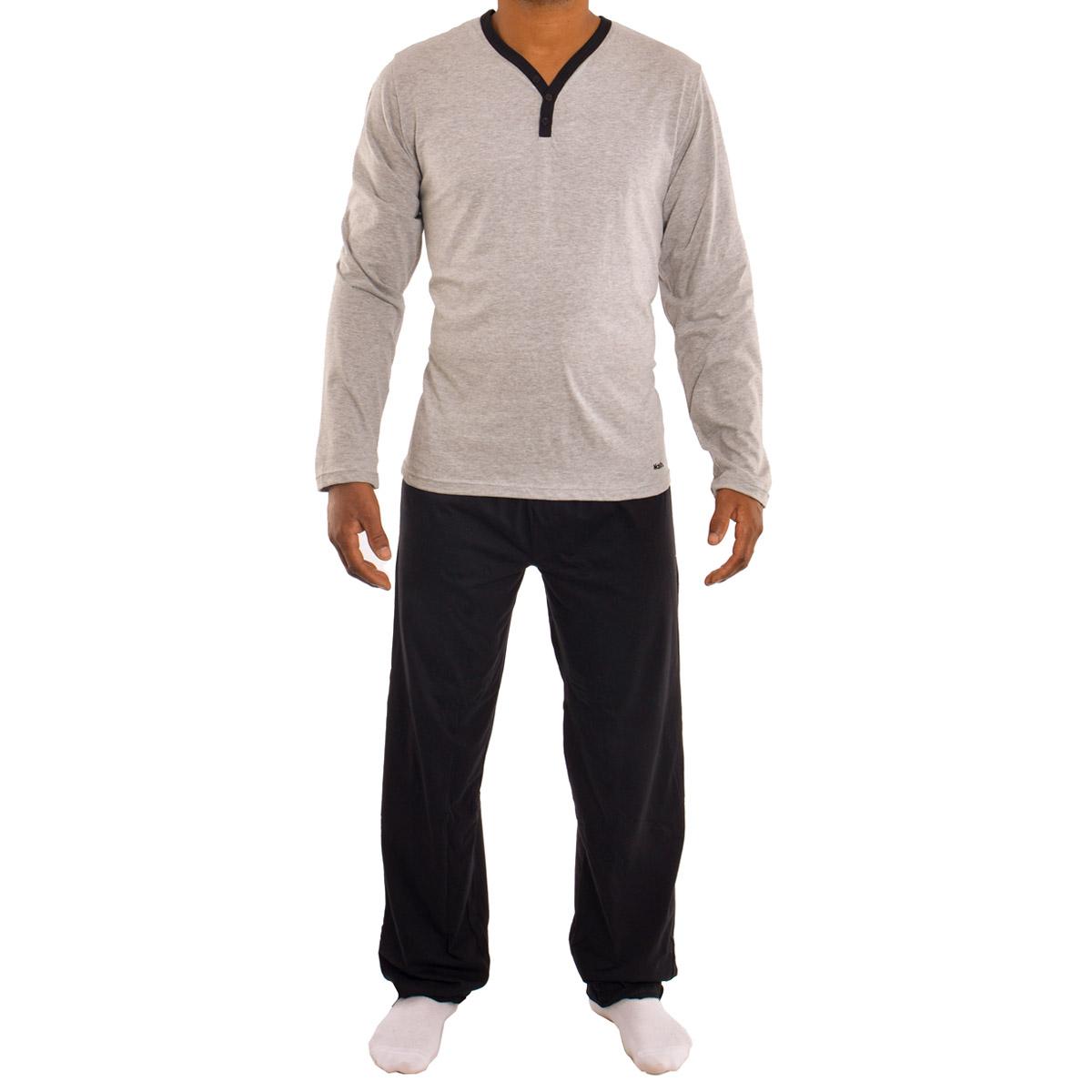 Pijama para o inverno em algodão masculino Mash