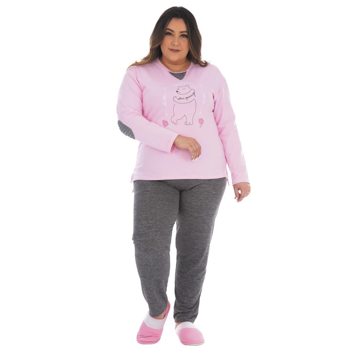 Pijama plus size feminino para o inverno ELEGANCE Victory