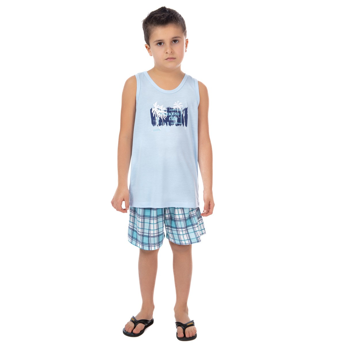 Pijama regata de verão infantil para menino Victory