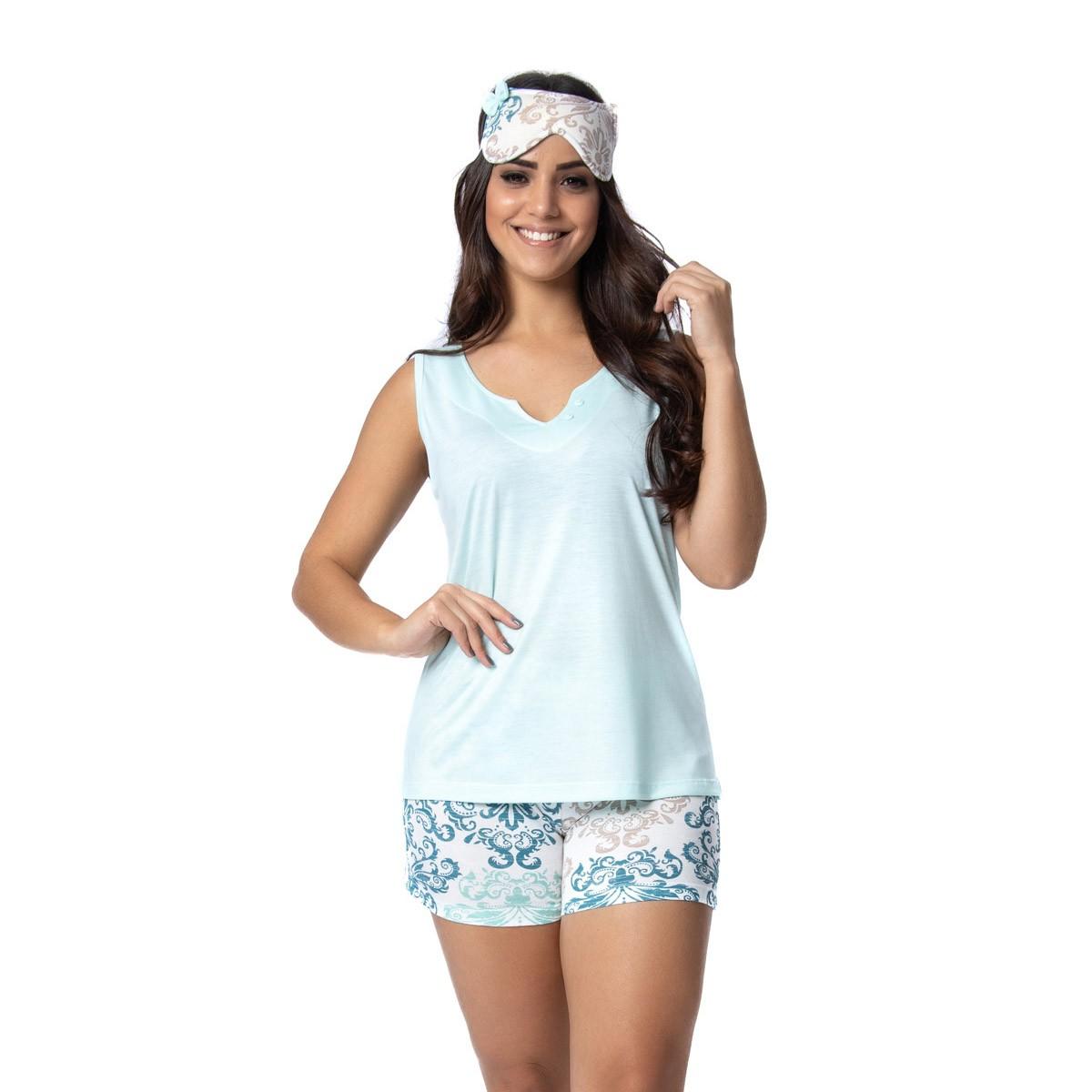 Pijama short doll e regata feminino para o verão Victory