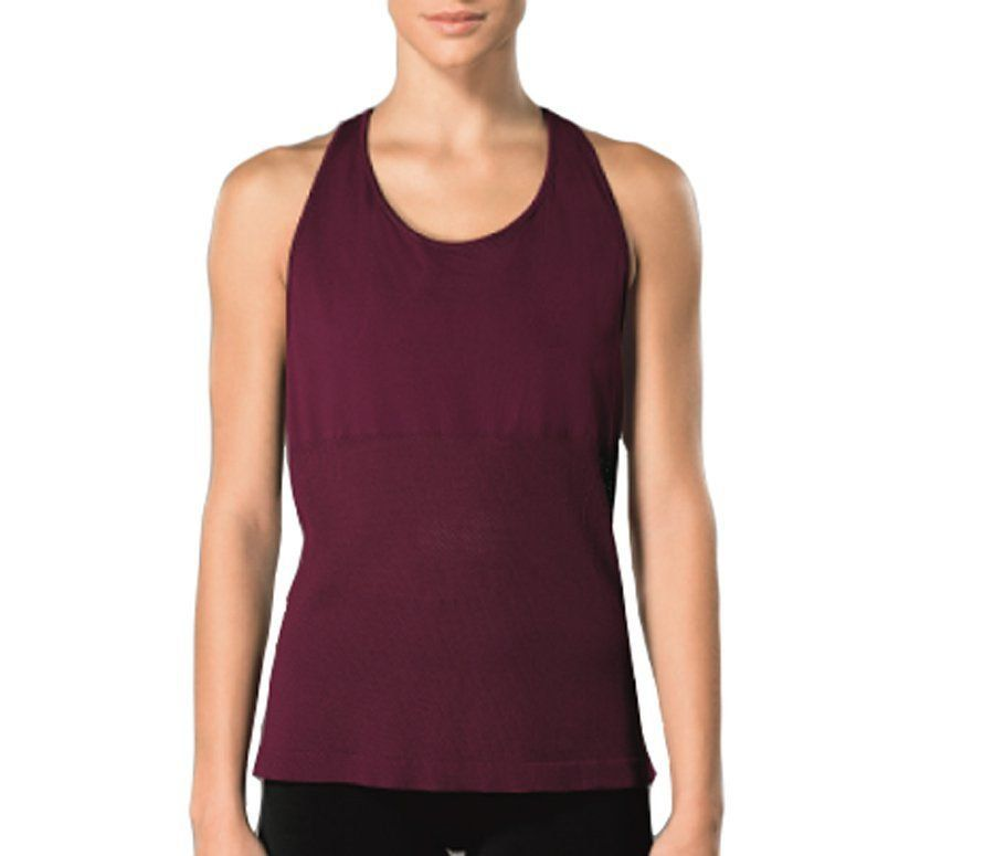 Regata fitness -  Roupa de academia sem costura feminina Lupo 71636