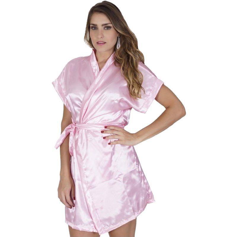 Robe em cetim feminino - Ideal para noivas e madrinhas - roupão para dormir