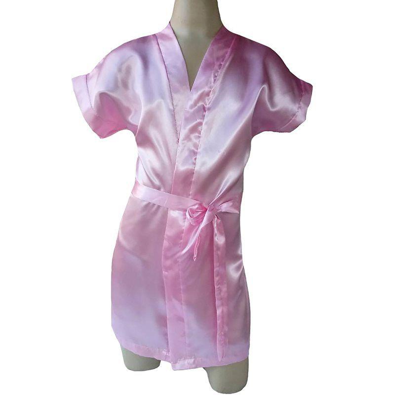 Robe infantil feminino em cetim