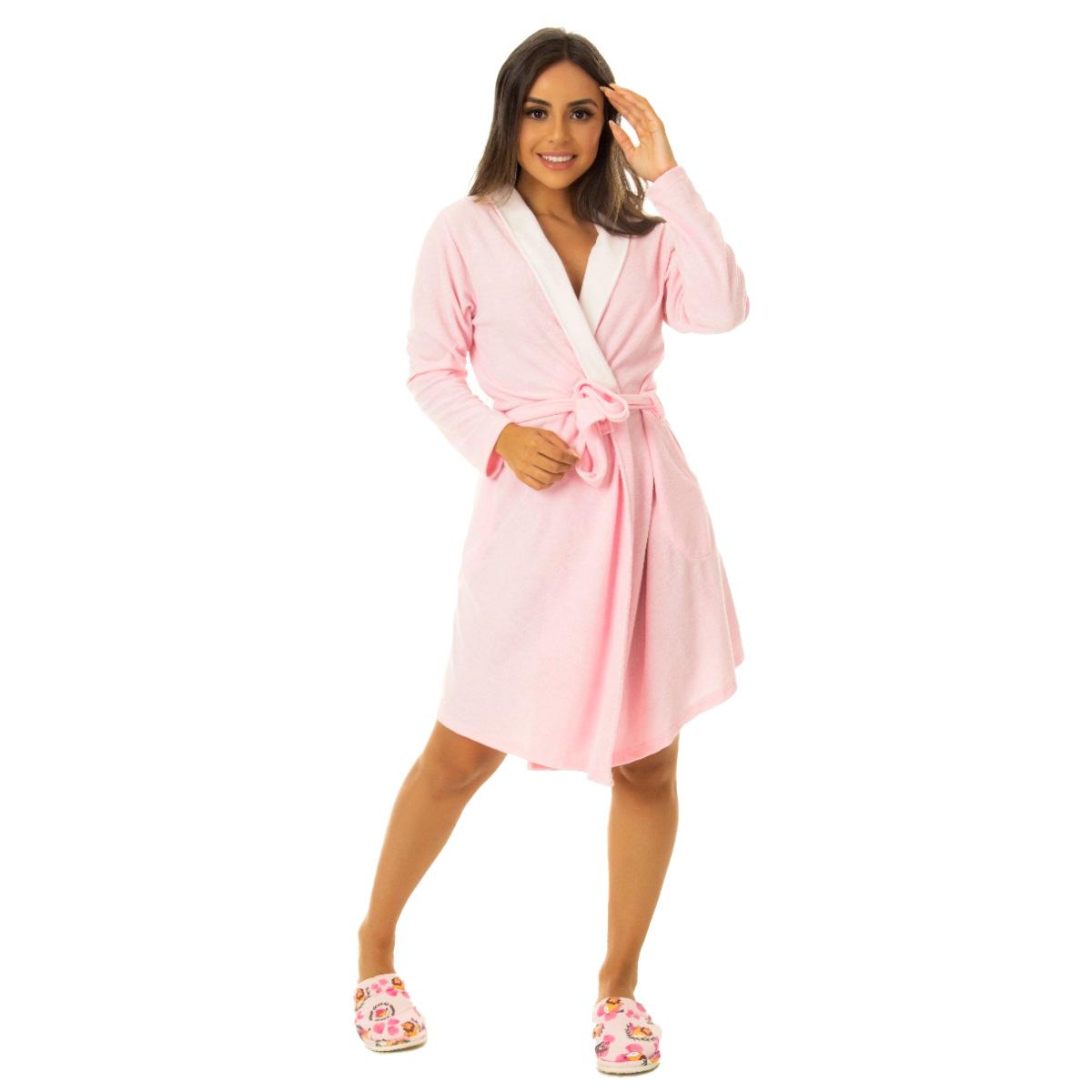 Robe feminino em plush Victory