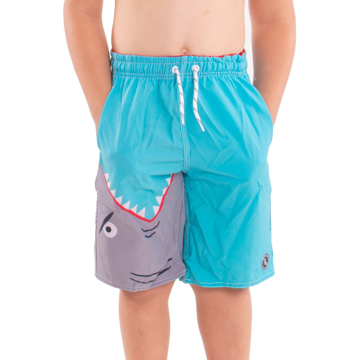 Short Infantil Masculino Estampado Lupo Kids Beachwear .