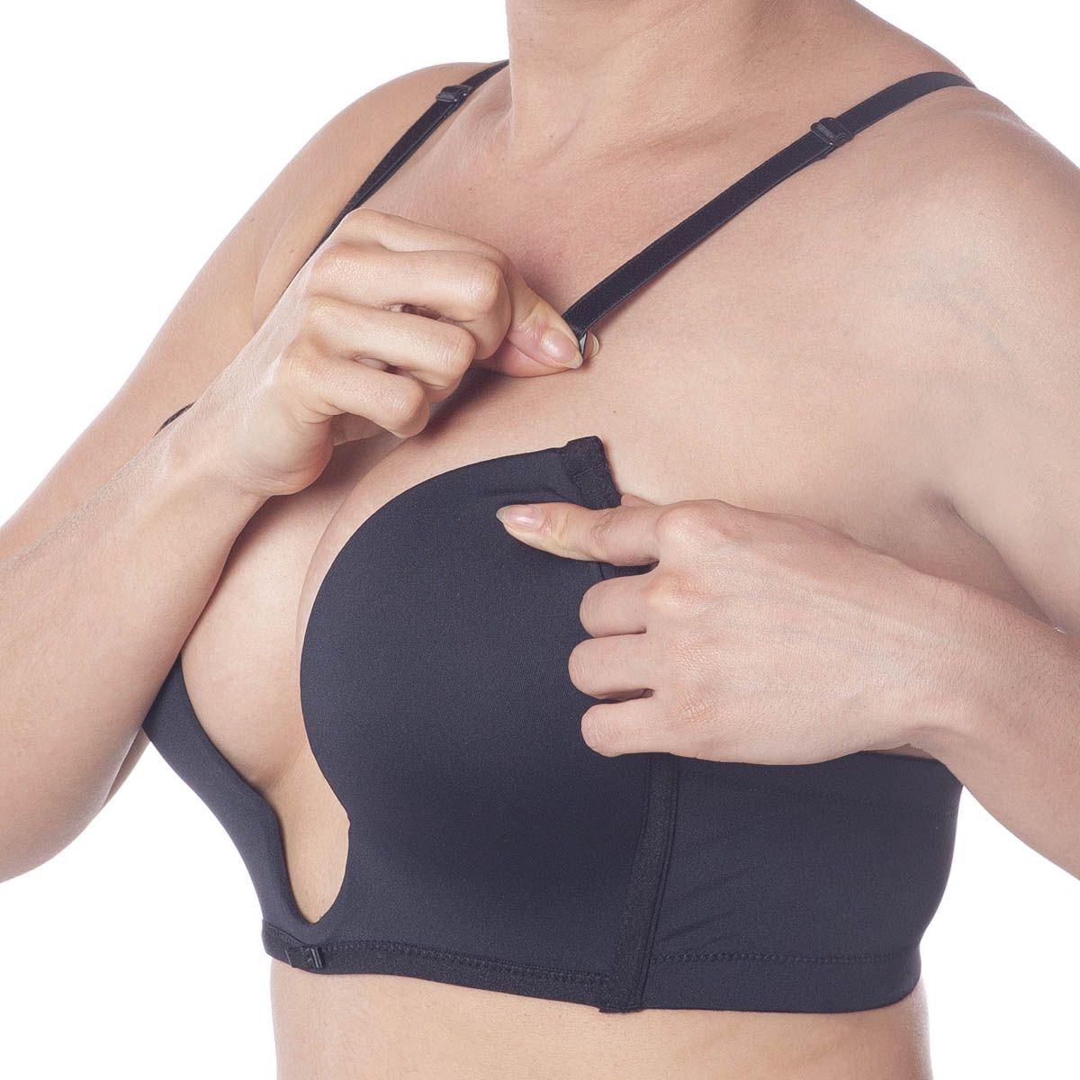 Sutiã decote profundo efeito silicone push up Vi lingerie .