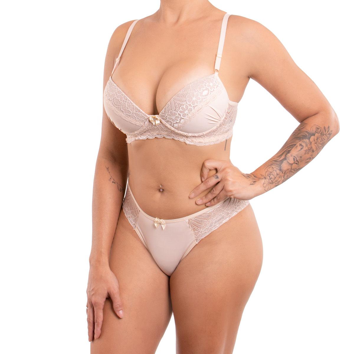 Sutiã e calcinha conjunto de lingerie Toque Secreto
