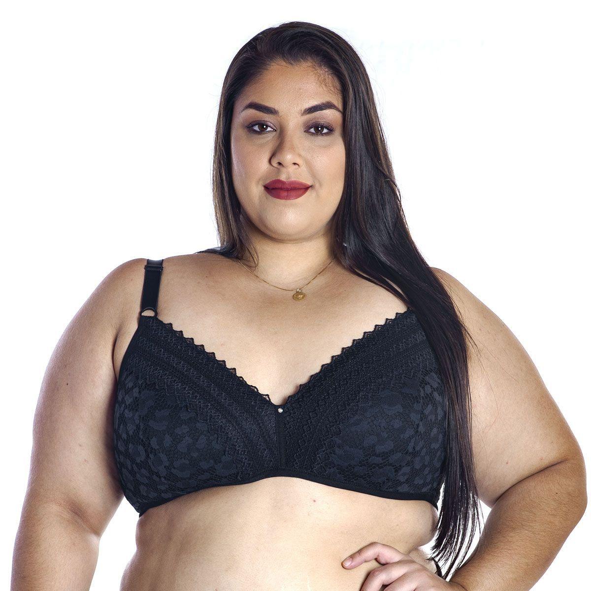 Sutiã Plus Size Bojo Confort Linha Única Nayane Rodrigues .