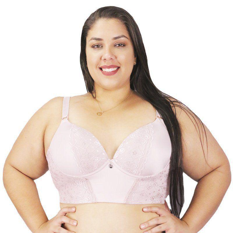 Sutiã plus size com renda corpete Nayane Rodrigues -