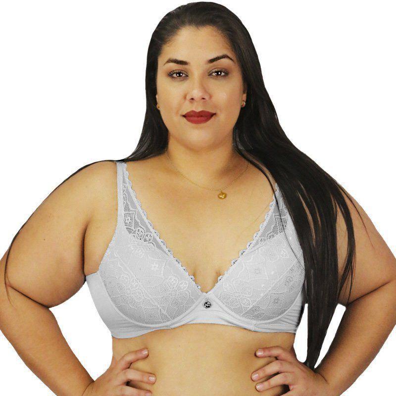 Sutiã Plus Size Em Renda Com Bojo Nayane Rodrigues