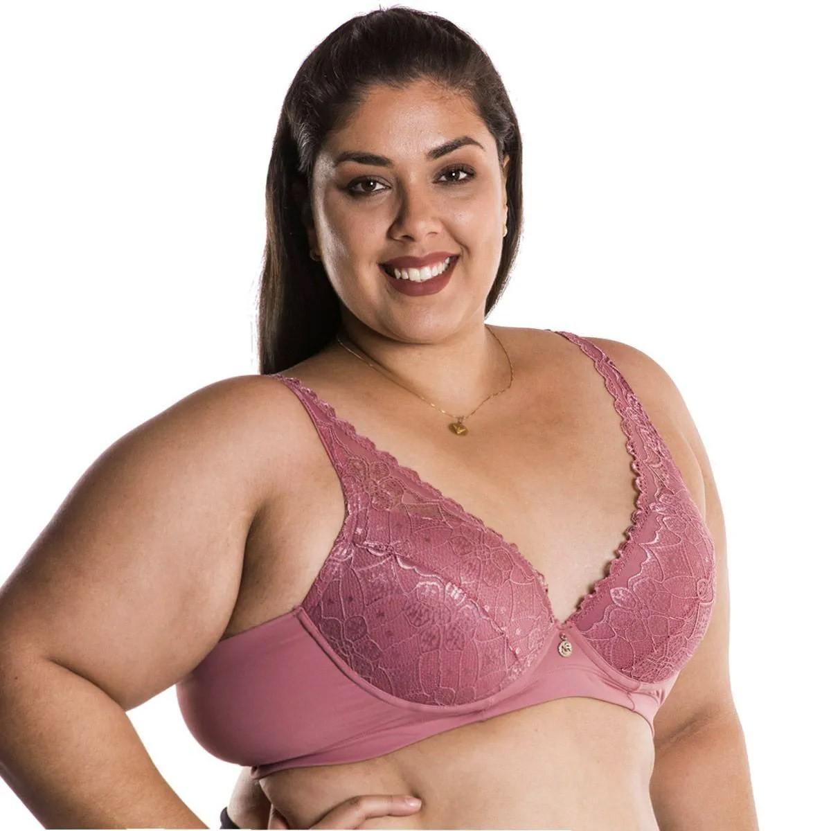 Sutiã Plus Size Em Renda Com Bojo Nayane Rodrigues .