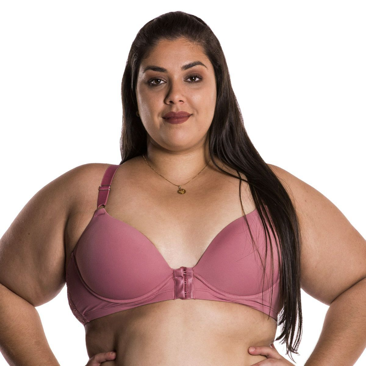 Sutiã Plus Size Nadador Rendado Fecho Frontal Nayane Rodrigues