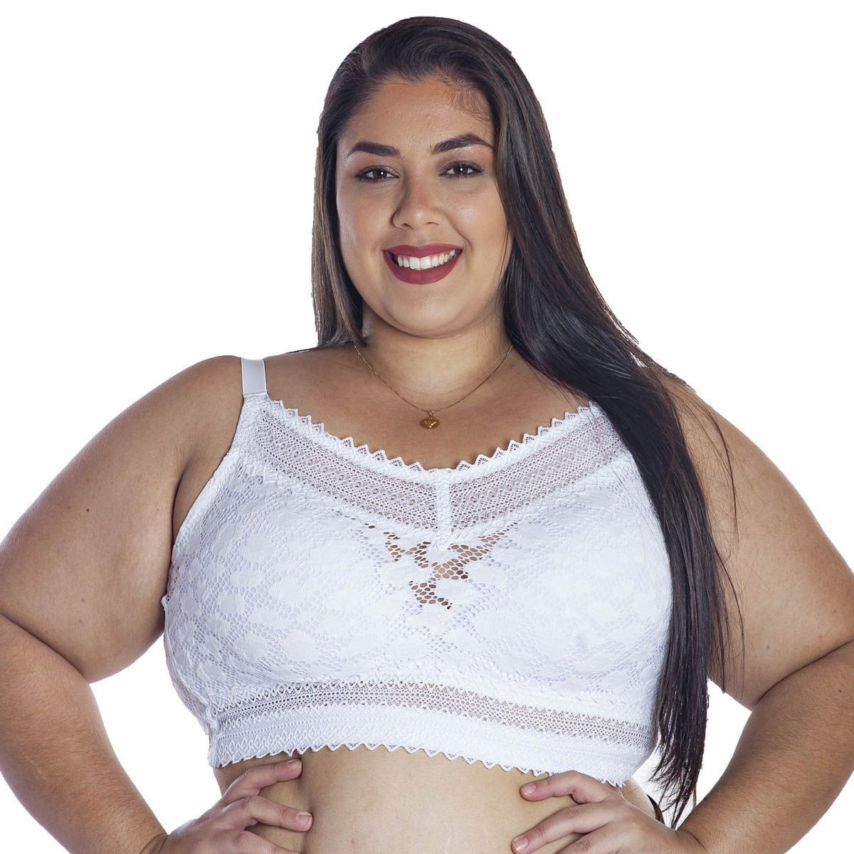 Sutiã Plus Size Rendado Com Bojo Sem Aro Nayane Rodrigues .