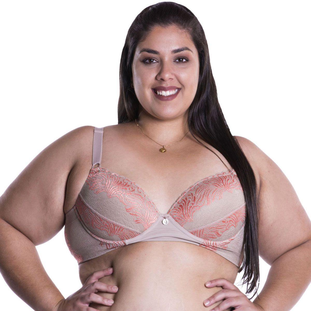 Sutiã plus size sustentação reforçado com renda Nayane Rodrigues -