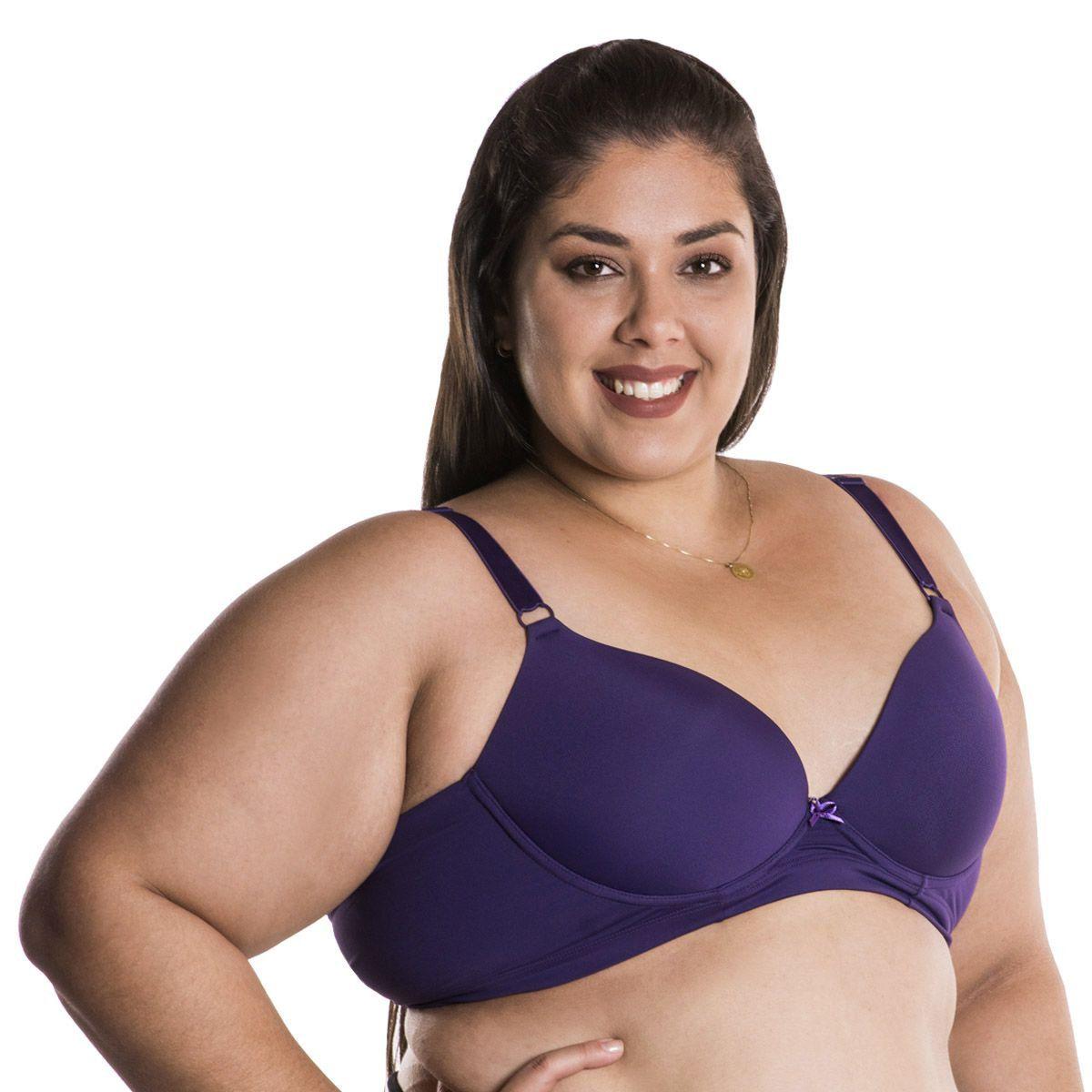 Sutiã reforçado plus size sustentação - copa C (bojo maior) Nayane Rodrigues
